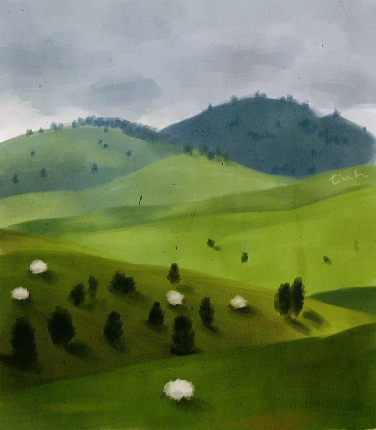 Alpine meadows by Tiuh-t.deviantart.com on @DeviantArt