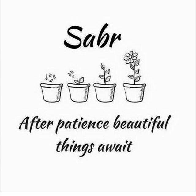 Have sabar