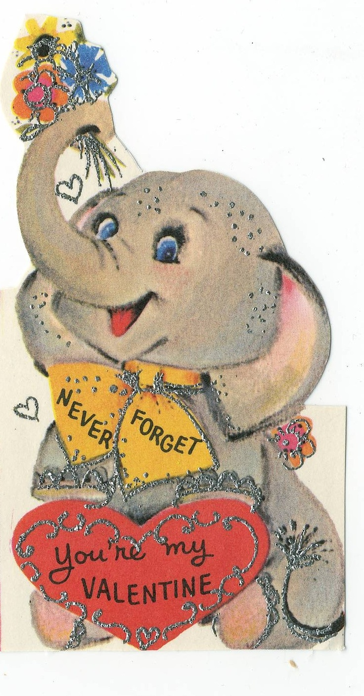 101 best vintage elephant cards images on pinterest vintage cards reminds me of the valentines when i was younger kristyandbryce Image collections