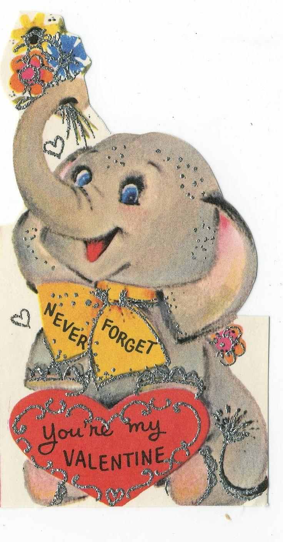 96 best images about Vintage Valentines Card – Elephant Valentines Card