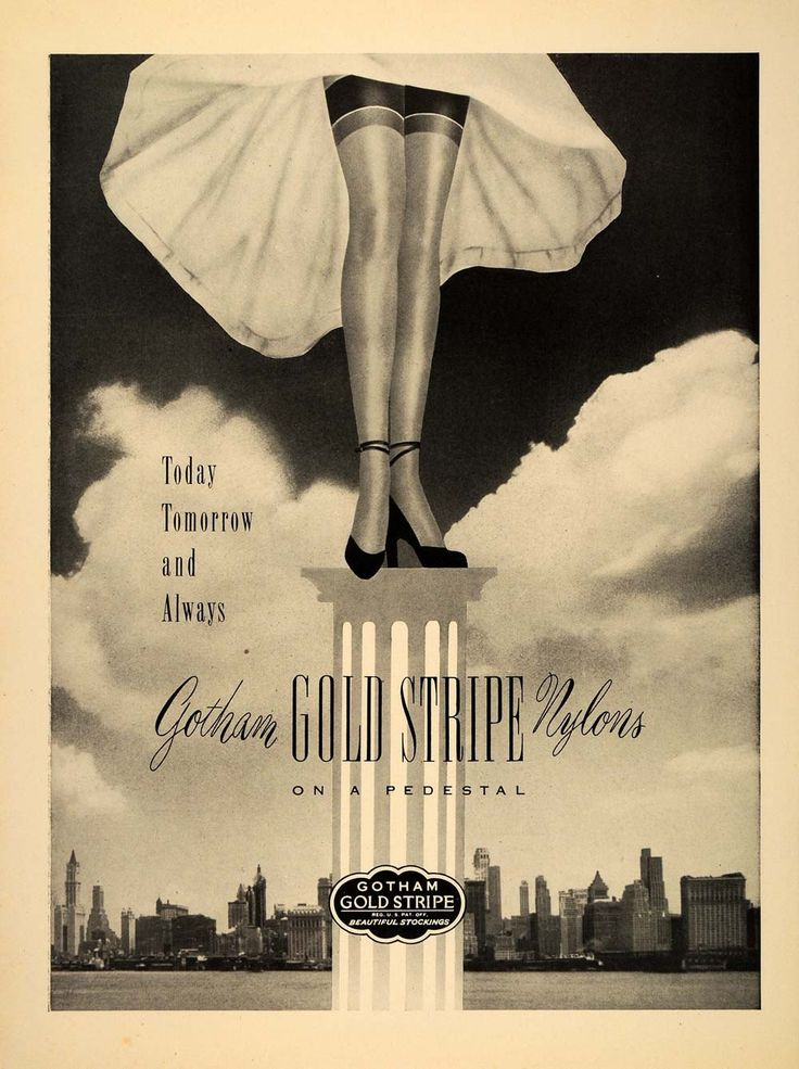 https://www.periodpaper.com/products/1948-ad-vintage-gotham-gold-stripe-nylon-stockings-fashion-new-york-city-skyline-033394-ny8-043