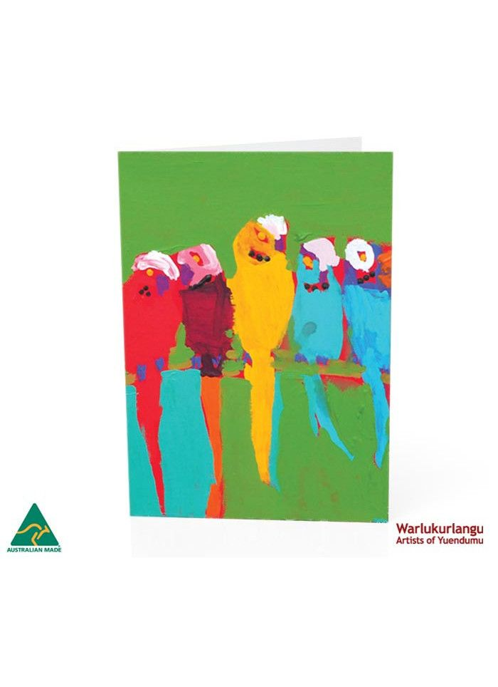 Birds of Yuendumu  Art Card -  Green 5