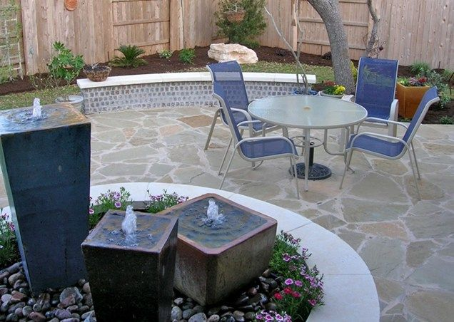 Custom Patio Fountain Patio Design My Yard Austin, TX