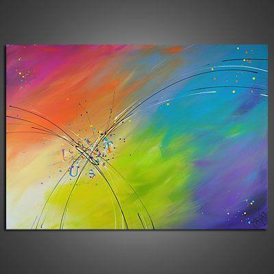 EventART MAYA LEBENSLUS Gemälde Bilder Acryl Abstrakt Wandbild Acrylbild Malerei in Antiquitäten & Kunst, Direkt vom Künstler, Bildende Kunst | eBay