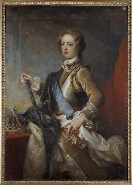 Portrait de Louis XV adolescent  Auteur: Van Loo Carle (dit), Van Loo Charles André (1705-1765)  Nancy, musée des Beaux-Arts