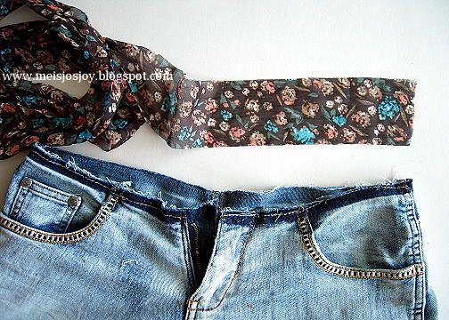 Meijo's Joy: How to stretch Jeans at the Waist! Easy n Low Sew!
