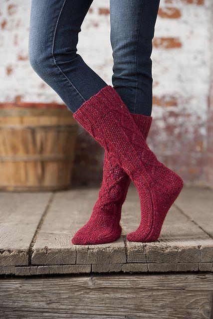 Ravelry: McIntosh Boot Socks pattern by Jennifer Burke
