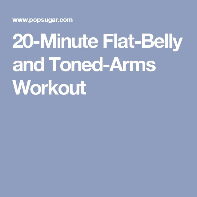 20-Minute Flat-Belly and Toned-Arms Workout: 10-lb weights