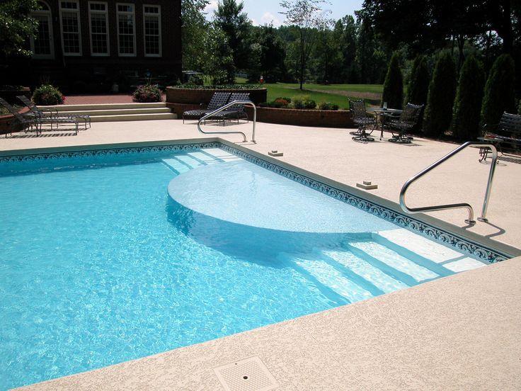 die besten 25 vinyl pool ideen auf pinterest kleiner eingelassener pool inground pool. Black Bedroom Furniture Sets. Home Design Ideas