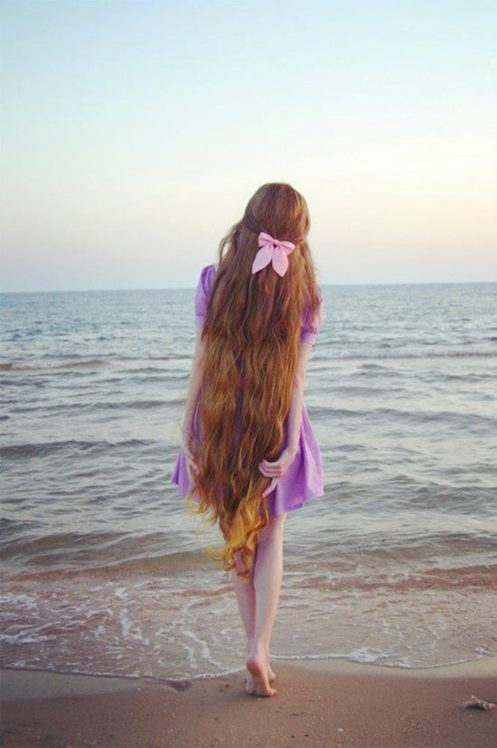 long beautiful hair style with hair bow and clip in curly colored hair extensions