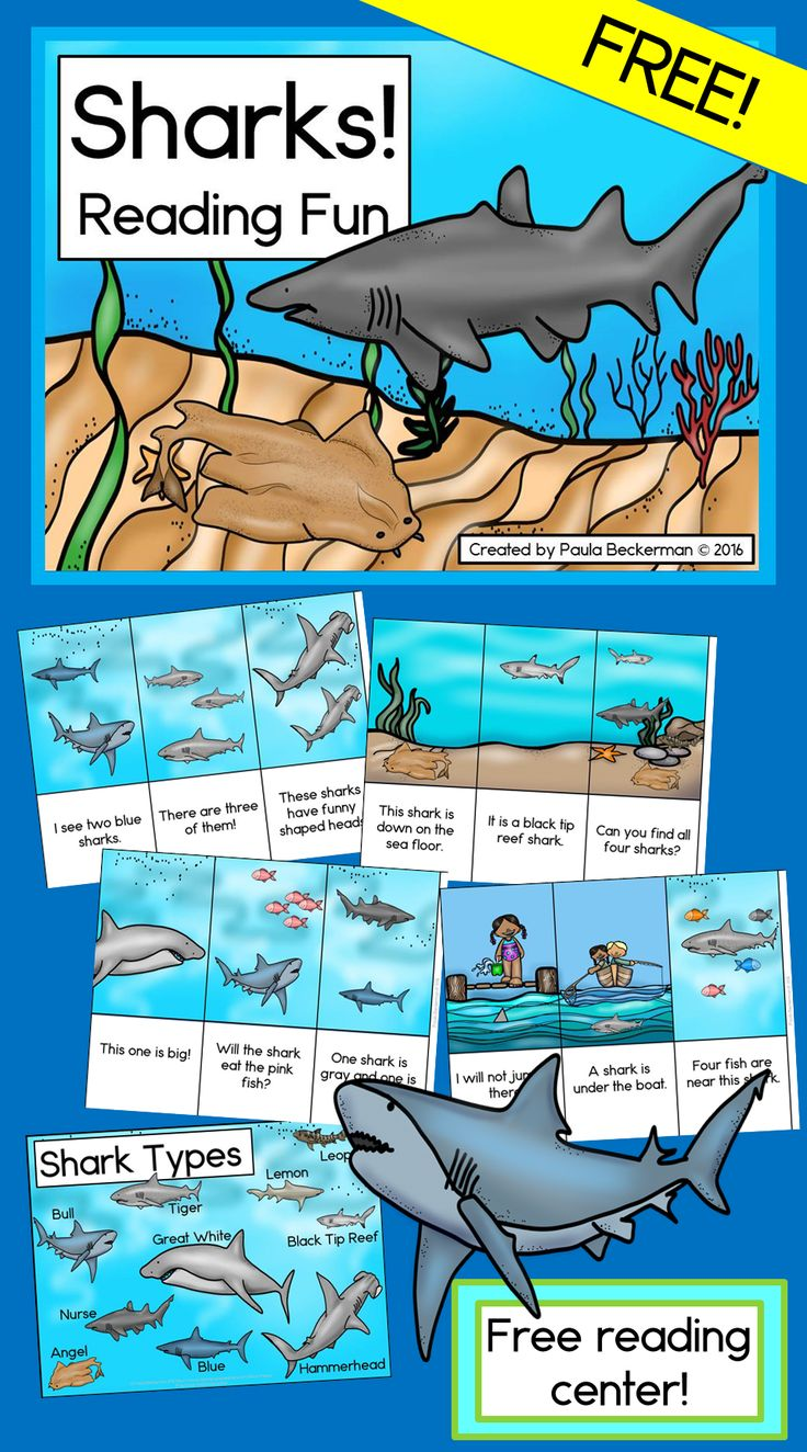 "This ""jawsome"" FREE resource is a great activity for your ocean theme or shark week lesson plans! Students read sentences about sharks and match them to the correct pictures - there's even a cool shark poster included!"