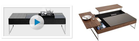 Occa sofa table - you can change the colors individually. I <3 it in Black & White! | BO Concept