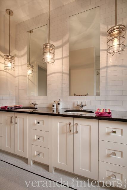 Subway Tile From The Counter To The Ceiling With Tall