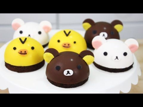 How to Make Rilakkuma Bombe Cakes! - YouTube - Template for details http://www.scribd.com/doc/268618342/Rilakkuma-Template