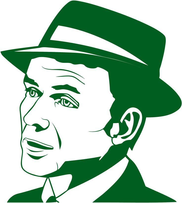 Sticker Frank Sinatra   Dimensions 24 cm x 22 cm Tarif 8.00 € frais de port gratuit