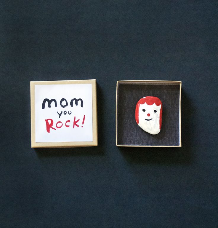 Make a Rock Portrait for Mom/Dad. Great kids project for mother/Father's Day