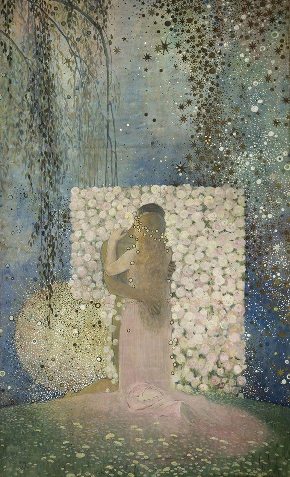 Galileo Chini  L'Amore, 1919  Olio su tela, 277 x 172 cm  Livorno - Lucca, 800/900 Artstudio - Studio d'arte dell'Ottocento