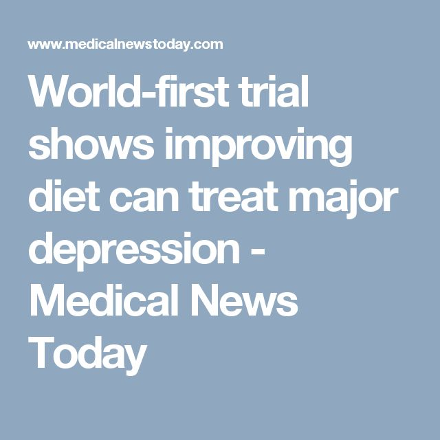 World-first trial shows improving diet can treat major depression - Medical News Today