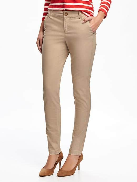 Mid-rise skinny khaki pant - Old Navy