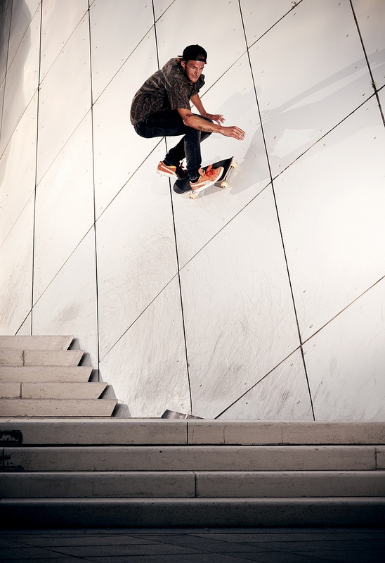 Rider: Ivo Schneiter | Trick: Wallride Gap | Location: Luxembourg | Photo: Dominic Zimmermann