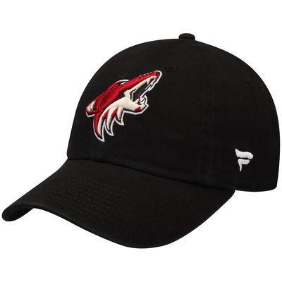 Men's Arizona Coyotes Fanatics Branded Black Elevated Core Structured Adjustable Hat