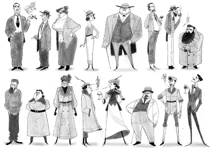 Characters Design for Annecy Opening short, Thibault LECLERCQ on ArtStation at https://www.artstation.com/artwork/vmOda