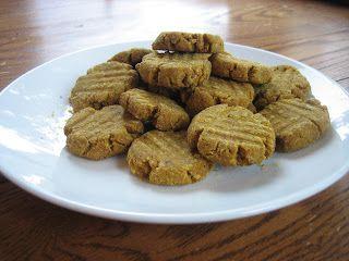 The Greyhound Beckett & his Dog Treats: Peanut Butter Pumpkin Dog Treats!