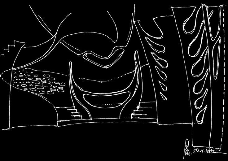 Pharmacy Gate 4D, ABBOTT Germany - sketch by Peter Stasek Architect