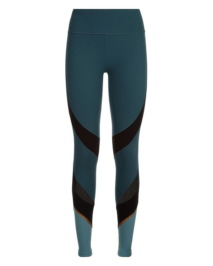 The bum-sculpting Power Leggings with breathable mesh panels down the legs. Designed in technical fabric with the perfect mix of stretch and recovery, these versatile leggings in sweat-wicking fabric perform for every sport from running, to spin, barre and more.