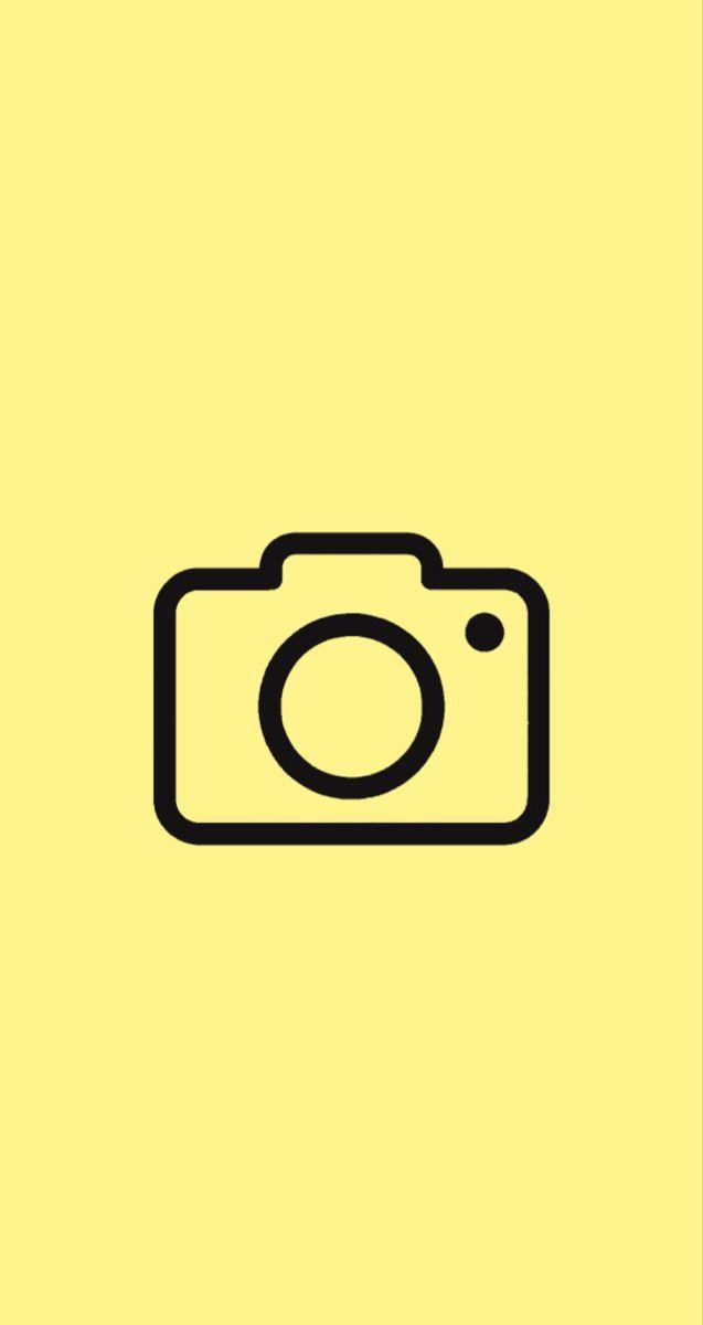 Camera Icon Pastel Yellow Camera Icon Yellow Aesthetic Pastel Apple Icon