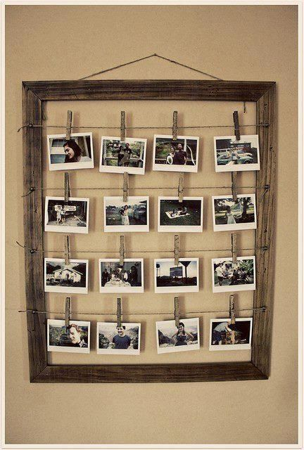 """Frame with clothespins for hanging """"What does A Living Hope mean to you"""" answers"""