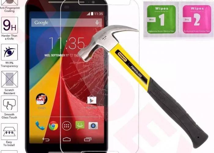 Guili Guili Fundas y Accesorios Para Smartphone: Mica Cristal Templado Moto G2 Generación Gorilla Glass 9H - Kichink