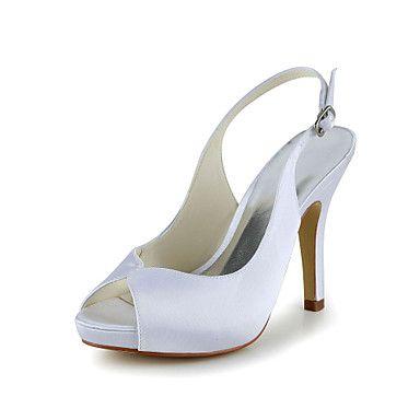 Γάμος Παπούτσια - Γυναικεία - Με Τακούνι - Πέδιλα - Γάμος -Μαύρο / Μπλε / Ροζ / Μωβ / Κόκκινο / Ιβουάρ / Άσπρο / Ασημί / Χρυσό / – EUR € 39.19