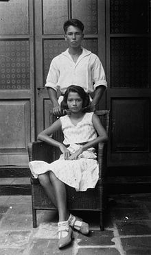 Indo-European brother and sister, Dutch East Indies, 1931