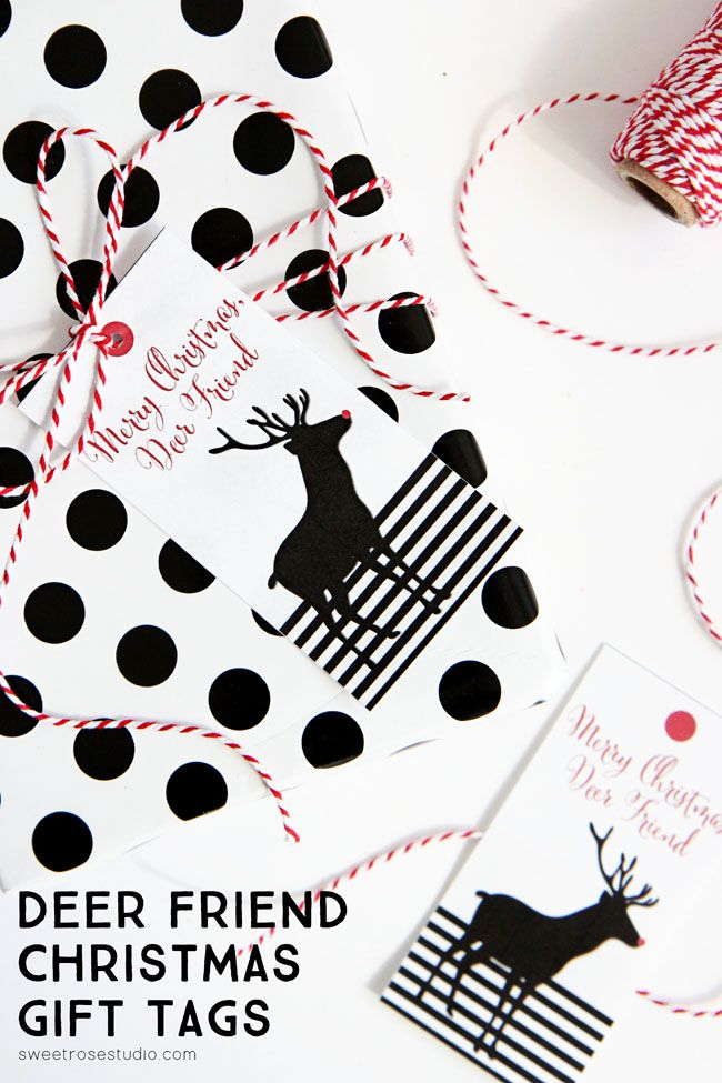 printable deer friend christmas gift tags print out these cute gift tags to