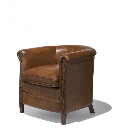 The Haraboro Club Chair Is Crafted From Genuine Buffalo Leather And Is  Taking The Pure Collection Back To Black With Black Leather, Black Rivets,  ...