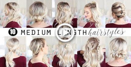 TEN Medium Length Hairstyles!!!  | Twist Me Pretty #hair #hairstyles #braids #Easyhairstyles