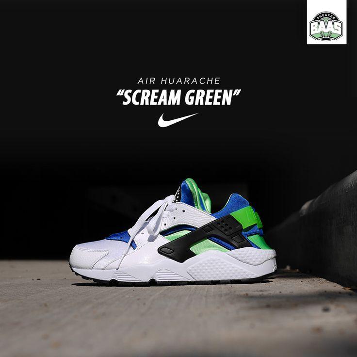 "Nike Air Huarache ""Scream Green"" | Fresh from Nike! | www.sneakerbaas.nl | #Nike #Air #Huarache #baasbovenbaas"