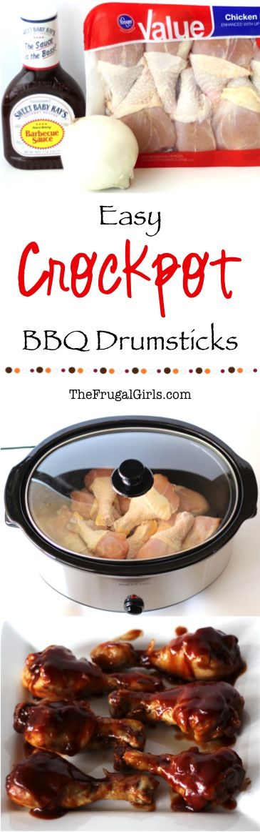 Easy Crockpot BBQ Chicken Drumsticks Recipe! ~ from TheFrugalGirls.com ~ this Slow Cooker barbecue dish is perfect for a weeknight dinner, Sunday lunch, or even Game Day!  #slowcooker #recipes #thefrugalgirls