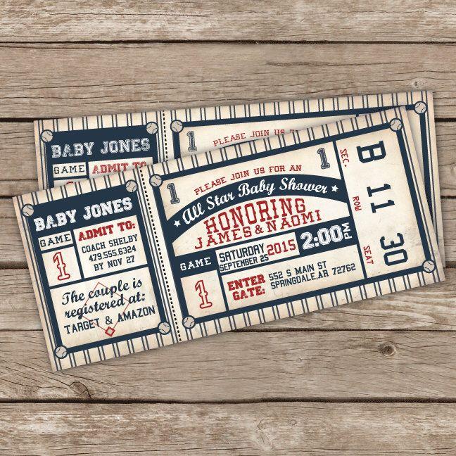 Baseball Baby Shower Invitation - Baseball Baby Shower Invite - DIY Printable or Printed Invitations by LittleMountainTop on Etsy https://www.etsy.com/listing/247233471/baseball-baby-shower-invitation-baseball