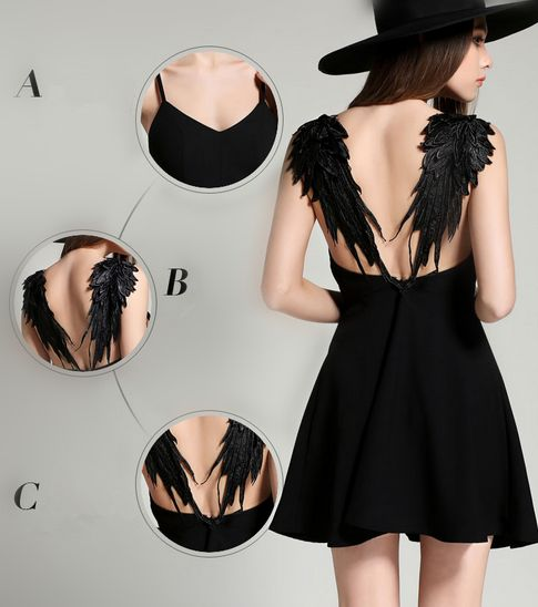 Fashion sexy backless lace angel wings dress · Asian Cute {Kawaii Clothing} · Online Store Powered by Storenvy