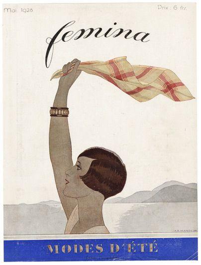 "Femina, mai 1928 - ""Modes d'été"" (illustration: André Edouard Marty)"