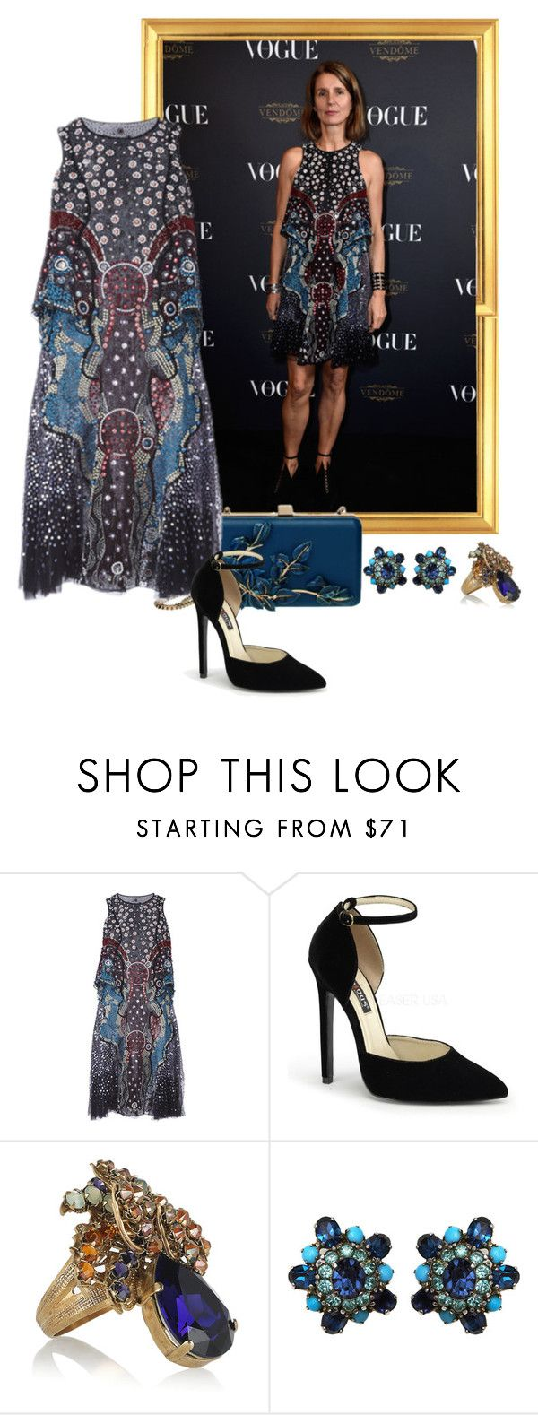"""""""Karla Otto – Vogue 95th Anniversary Party."""" by foreverforbiddenromancefashion ❤ liked on Polyvore featuring Elie Saab, Mary Katrantzou, Bijoux Heart and Christian Dior"""