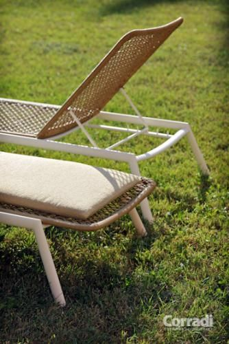 Linea Too deep Corradi - particolare sdraio #arredo #giardino