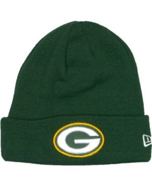 New Era Green Bay Packers Basic Cuff Knit Hat - Green Adjustable