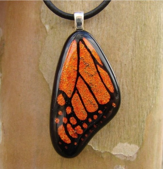 271 best fused glass images on pinterest glass art fused glass deep copper monarch butterfly wing fused glass pendant mozeypictures Choice Image