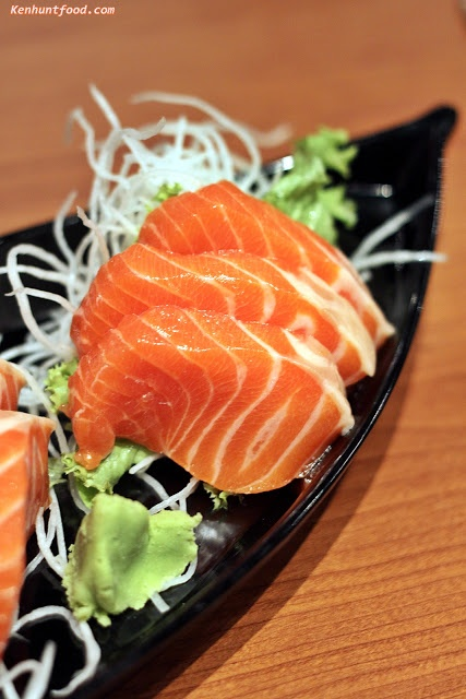 Salmon sashimi - favorite  Give me some and I guarantee you, I will love you to death. lol.