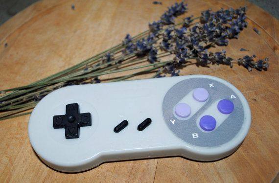 SNES Controler Soap: Retro and geeky Handmade by NerdySoap on Etsy