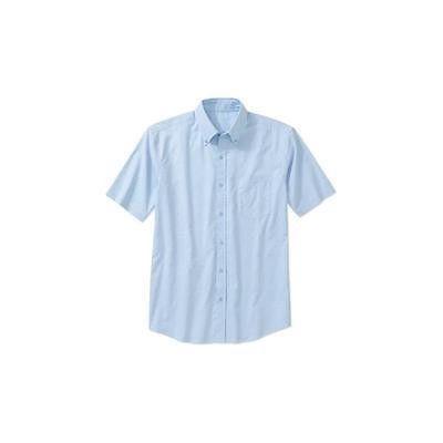 George Men's Short-Sleeve Oxford Shirt, Medium 38-40, Oxford Blue