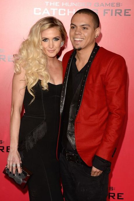 Evan Ross and Ashlee Simpson....